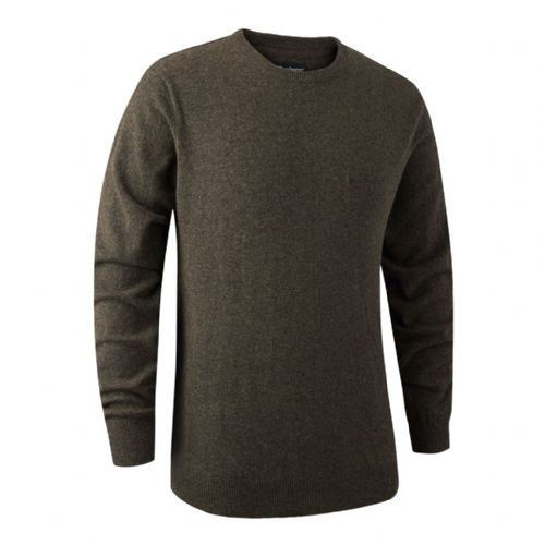 Deerhunter Brighton  Round Neck Pullover: Dark Elm